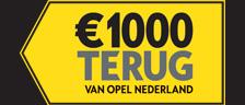 €1.000 cashback als dank voor uw keuze.