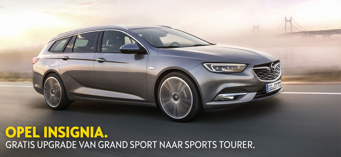 Gratis upgrade naar Insignia Sports Tourer.
