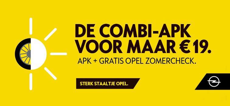 Opel Combi-APK met gratis zomercheck €19.